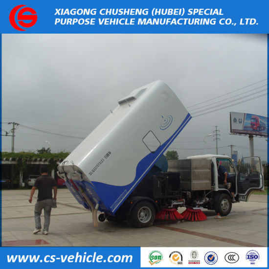Isuzu 4X2 Cheap Vacuum Road Sweeper Truck for Sale