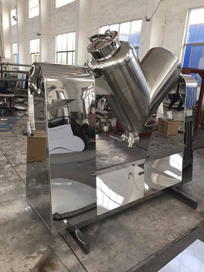 Industrial Batch Type Dry Powder Mixing Equipment for Solid + Liquid (V-blender)