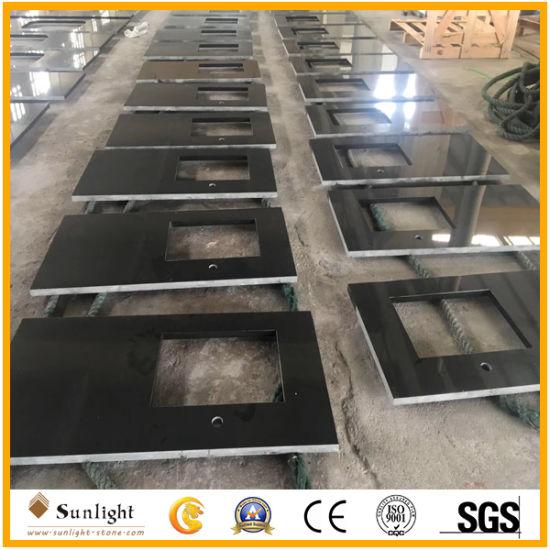 Shanxi Black Granite Countertop Vanity Top Kitchen Top