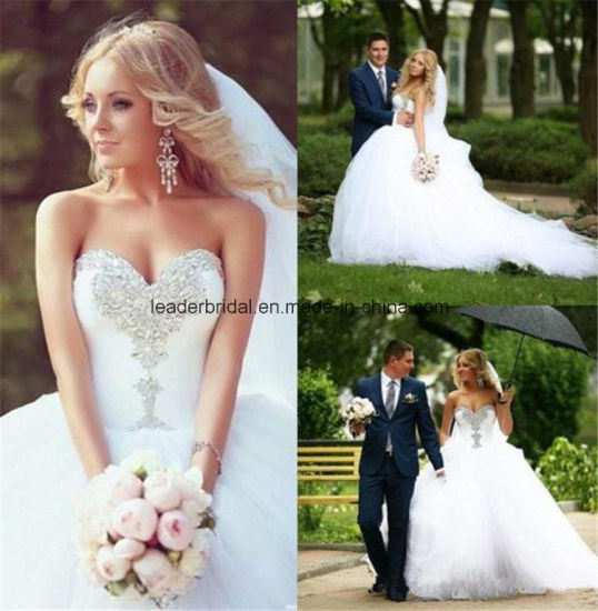 China Sweetheart Ball Gowns Sequins Tulle Wedding Bridal Dresses ...