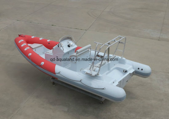 Aqualand 22feet 6.5m Rigid Inflatable Motor Boat/Diving/Rescue/Patrol/Rib Boat (RIB650B) pictures & photos