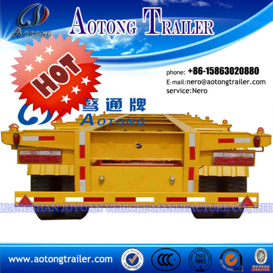 3 Axle Container Transport Flatbed Semi Trailer pictures & photos
