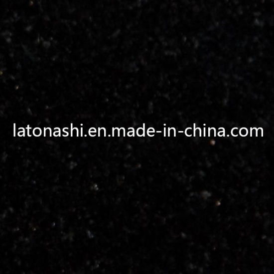 Polished Natural Stone Black Granite Tile for Floor and Wall