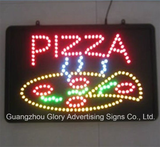 Led Pizza Display Sign Flashing Pictures