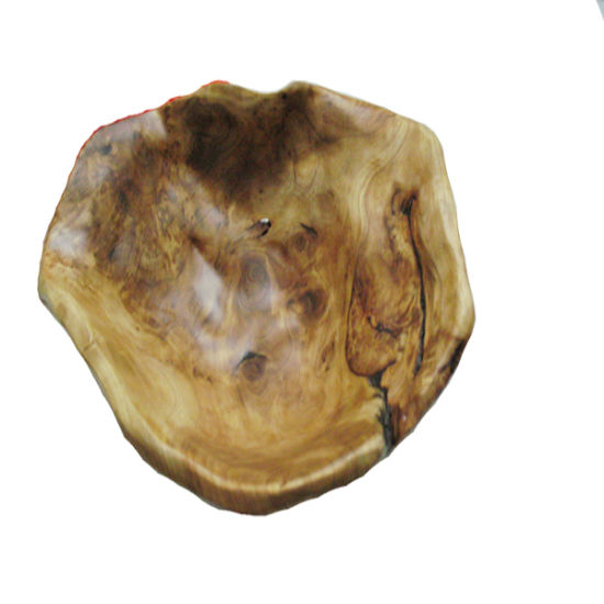 25PCS Antique Carved Oval Wooden Burl Bowl
