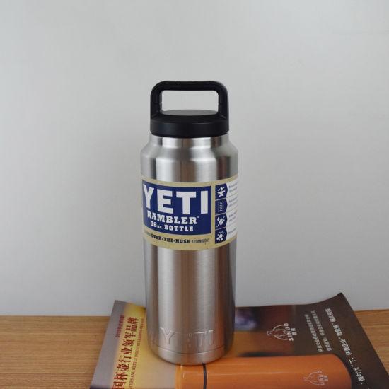 China Stainless Steel 18oz 32oz 64oz Yeti Rambler Bottle Vacuum