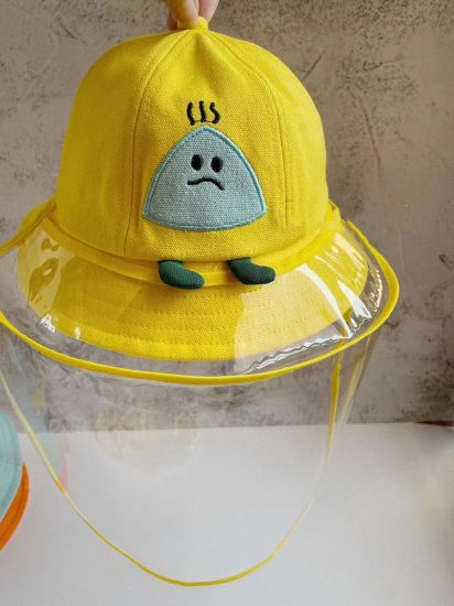 Children's Cap Anti-Epidemic Cap Anti-Droplet Saliva Detachable Isolation Mask Protective Cap Baby Rice Ball Basin Cap Korean Version