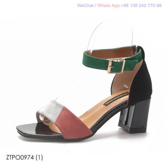 c5567e26261b China Women′s Fashion Open Toe Block Heels Ankle Strap Sandals Shoes ...