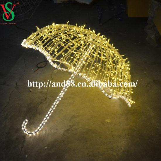 LED Decoration Motif Lights of 3D Umbrella