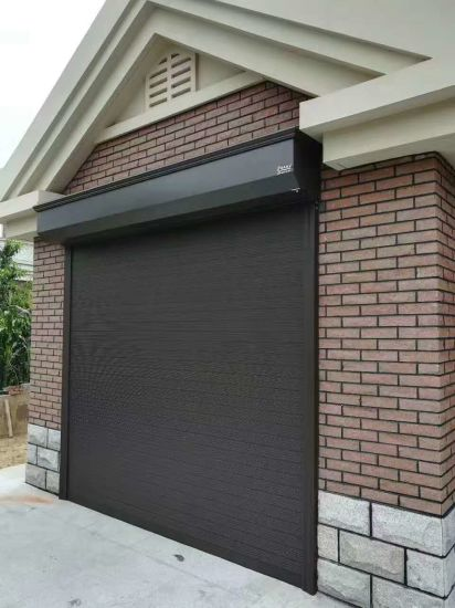 China Remote Controlled Residential, Insulated Steel Roll Up Garage Doors