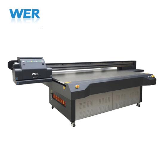 Wer Brand Plastics Acrylic PVC Leather Metal Wood UV Digital Flatbed Printer