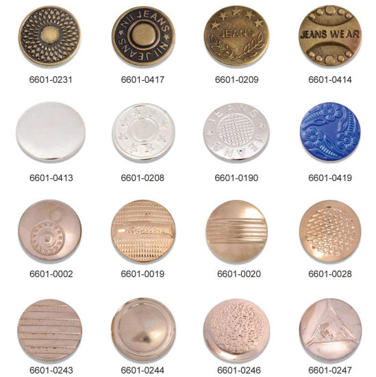 Newly Released Metal Brass Jeans Button Sewing Accessories pictures & photos