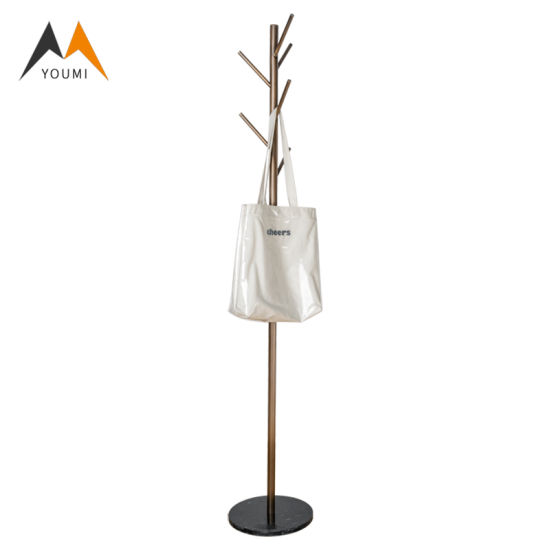 Tree Design Modern Golden Clothes Hanger Stainless Steel Coat Rack