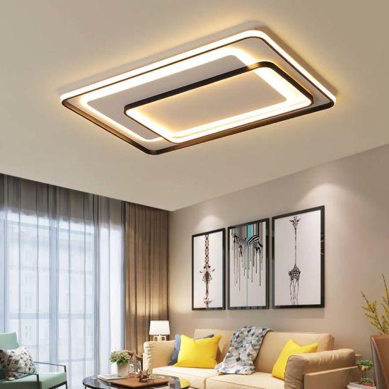 China Design Modern Living Room Square Flat Led Ceiling Light China Ceiling Light Modern Ceiling Light