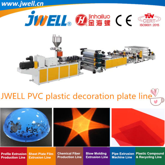 Jwell-PVC Plastic Sheet Recycling Making Extrusion Machinery for Decoration
