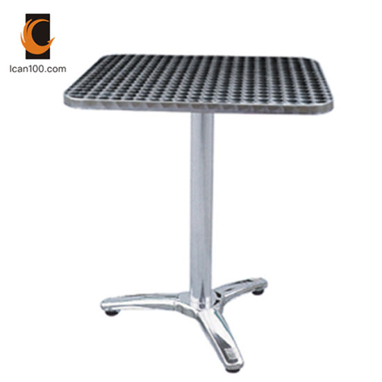 Anti-Aging Commercial Cafe Stainless Steel Restaurant Modern Dining Round Table pictures & photos