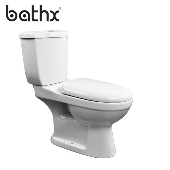 Ceramic Bathroom Sets Sanitary Ware Dual Flush Water Closet with Water Tank P Trap Two Piece Twyford Toilet Bowl (PL-6614)