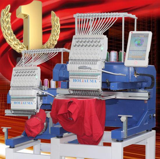 10 Years Service Newest Holiauma Single Head 12/15 Needles Computerized Embroidery Machine Price in China Similar as Tajima Brother 1 Head Embroidery Machine