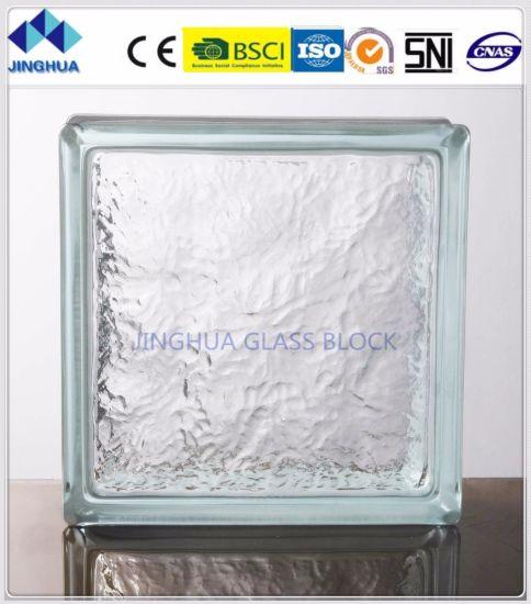 Quality Glass Block 8 x 8 x 3 Ice Glass Block