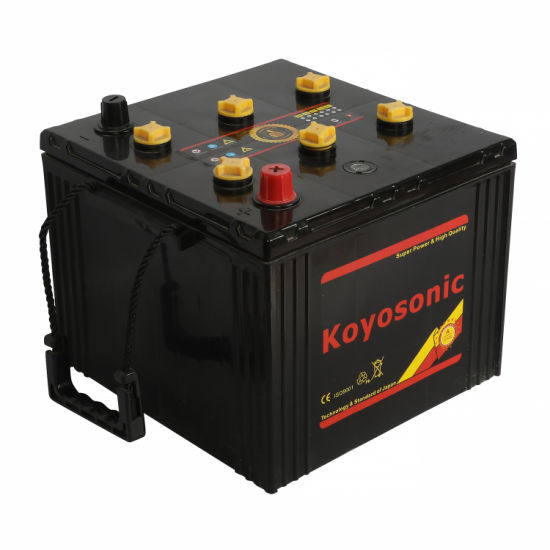 Dry Charged 12V 100ah 6tn Battery Square Military Battery with Color Carton pictures & photos