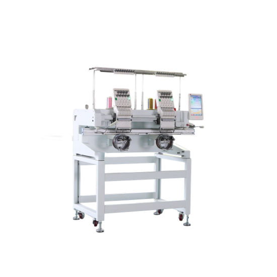 Top Sale 2 Head Industrial Embroidery Machine with 1000 High Speed