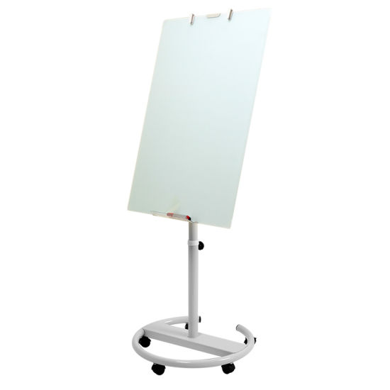 Glass Flipchart in Wheels Mobile Glass Board pictures & photos