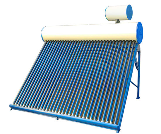 Pre-Heating Pressurized Solar Water Heater with Copper Coil