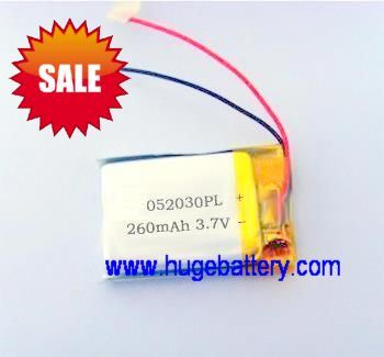 Rechargeable power supply Lithium Polymer Battery 250mAh 502030 pictures & photos