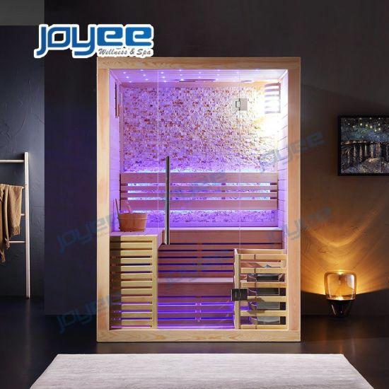 2 4 Person Home Bathroom Use Hemlock Poplar Wood Ozone Portable Infrared Traditional Sauna Steam Bath