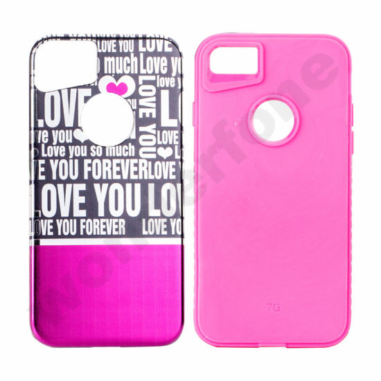 New Electroplating Painting PC Hybrid Case Cover for iPhone 7 7 Plus