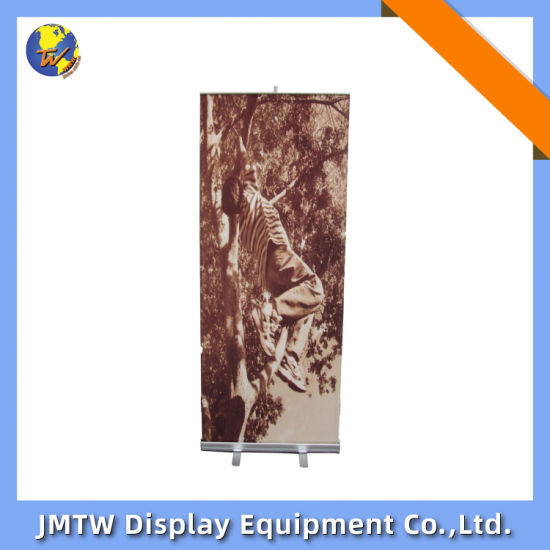 Advertising Equipment Scrolling Display Banner Stand for Retail Stroe with Aluminum Frame