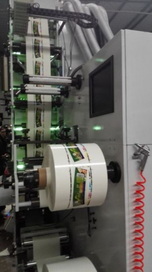 Flexo Printing Machine with IR+UV 6 Color pictures & photos