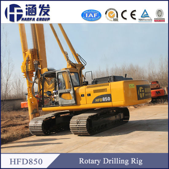 Your Best Choice! Hfd850 Hydraulic Rotary Drilling Rig pictures & photos