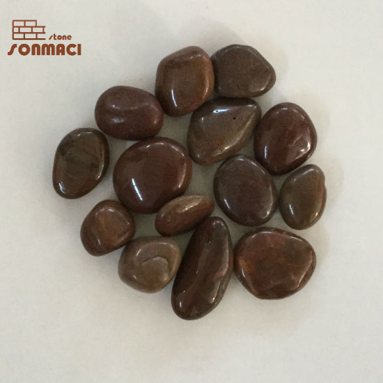 Chinese Red Polished Pebbles Stone for Floor