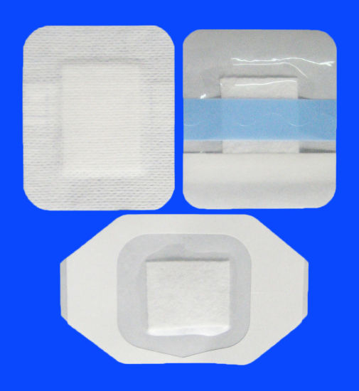 Medical PU Film Wound Care Dressing with Non-Woven Absorbent Pad