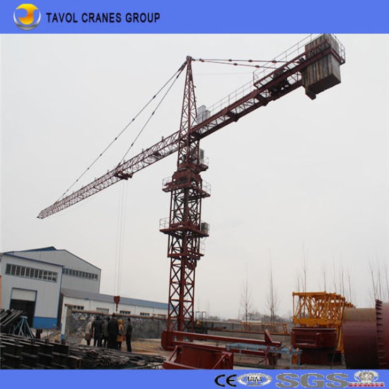 7030model 16ton Top Slewing Cranes pictures & photos