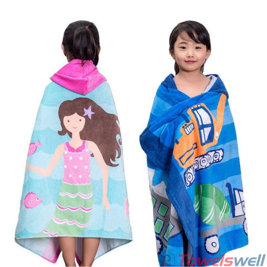 kids hooded beach towels. 100% Cotton Printed Kids Hooded Beach Towel Towels