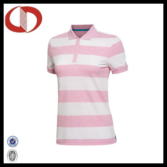 China Breathable Classic Stiped Polo Shirts for Women pictures & photos