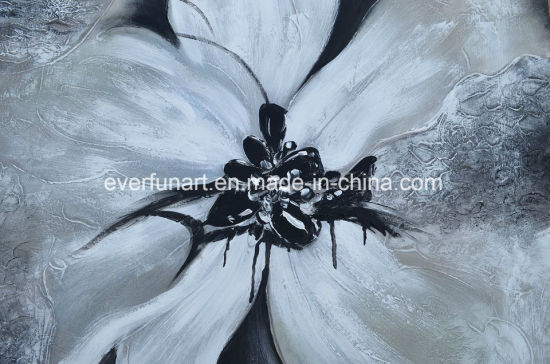 Pure Handmade Modern Flower Oil Painting Hotel pictures & photos