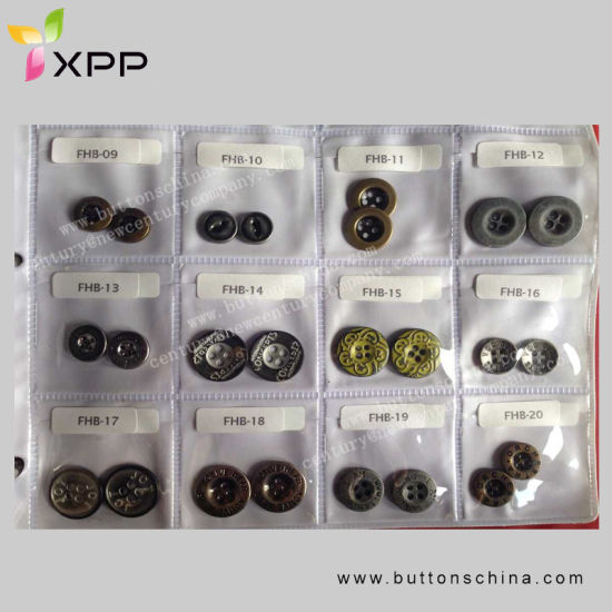 Metal Alloy 2h Sewing Button