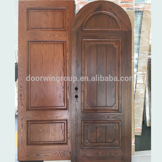Factory Customized Wood Door Interior Room Arched Top Door