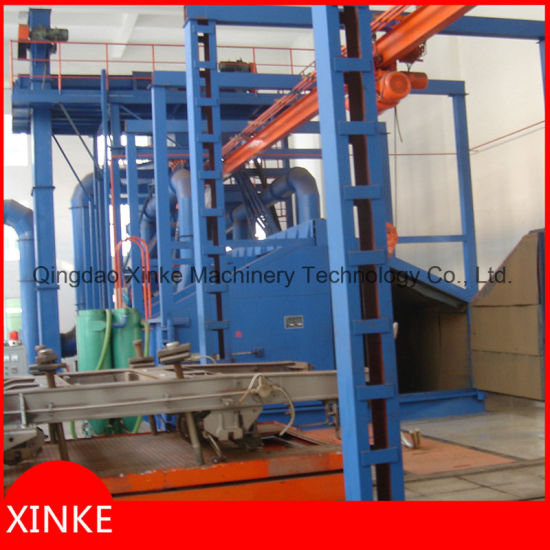 Rotary Hook Conveyor Type Sand Blasting Cleaning Machine pictures & photos