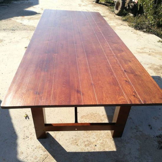 Wholesale China Wood Folding Farmhouse Beer Wedding Tables