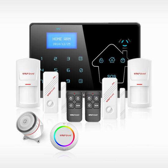 433MHz Wireless Wired GSM+PSTN+WiFi+GPRS Alarm System with SMS SIM Card