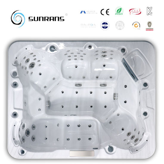 Corner Drain Location and Acrylic Material 6 Person Deluxe Balboa Outdoor SPA Hot Tub pictures & photos