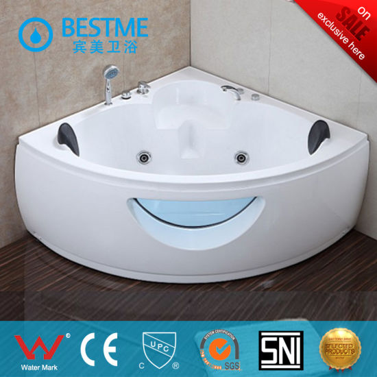 Small Acrylic Massage Bathtub With Seat With Shower (BT A1026)