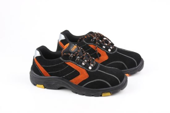 Cow Leather Safety Shoes Rwith Steel Toe Cap pictures & photos
