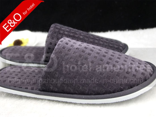 High Quality Cotton Hotel Slipper/Hotel Amenity Slipper/Indoor Slipper/Bedroom Slipper