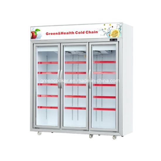 Supermarket Glass Door / Display / Chest / Icecream / Deep / Showcase / Upright Freezer