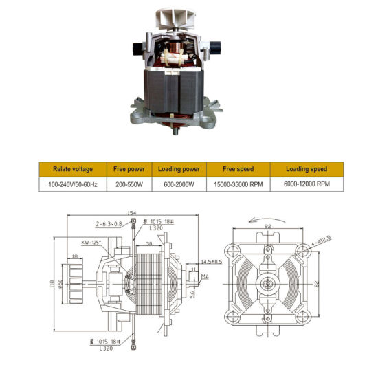 High Quality Mini Chopper Motor for Juicer pictures & photos